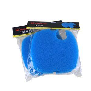 NCFAQUA 4 unids / lote filtro de reemplazo esponja poli espuma hilo dental almohadillas para sunsun HW-3000 Aquarium External Canister Filter Piezas de repuesto Y200917