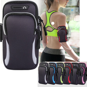 Outdoor Sport Arm Bags with Adjustable Belt Waterproof Universal Running Hiking Armbands Case Cover for Phone