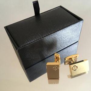 PP cufflink Men shirt Cufflinks Wholesale price jewelry stainless steel Brand Cuff links for bestman Gift