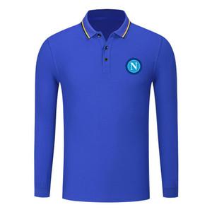 SSC Napoli cotton long sleeve shirt men lapel polo soccer men polo shirt training jersey Men's Polos slim polo shirt