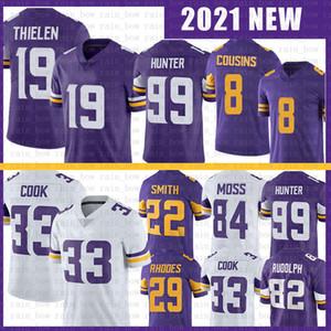 19 Adam Thielen 33 Dalvin Cook 99 Danielle Hunter Futbol Forması 8 Kirk Cousins 22 Harrison Smith 84 Randy Moss 82 Kyle Rudolph