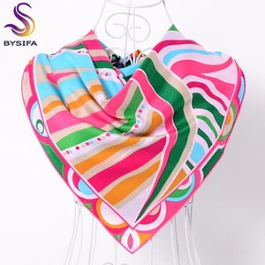 [BYSIFA] Herbst-Winter-Twill Large-Quadrat-Rosa Twill Schal Kopftuch 90 * 90cm Mode-Accessoires Damen Multi-Kopf-Schal Cape