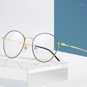 2020 Mujeres Hombres Gafas Anti Blue Light Blocking Optical Clear Lens Myopia Myopia Prescripción Gafing 19041