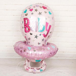 1pc 85*48cm Large Baby nipple foil balloons pink blue baby girl boy birthday party decorations shower party toys