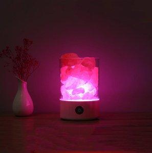 Décoration de la maison LED Crystal Sel Light Purificateur d'air Purificateur coloré Lampe de nuit Chambre Smart Chambre USB Chambre à chevet Chauffe Lava Lumières Cadeau Owe3059