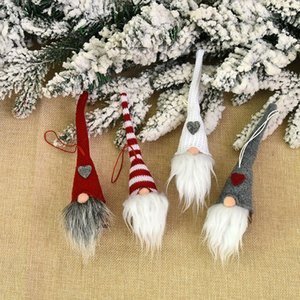 Kolye Tatil Dekor Hediye Ağacı Süslemeleri Asma 2020 Noel Süs Moda Örme Peluş Gnome Doll Noel Ağacı Duvar