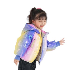 Winter Coat for Kids Girls Cotton Parkas Boys Winter Jacket Outerwear Children Hooded Baby Girl Winter Clothes Matching Color LJ201120