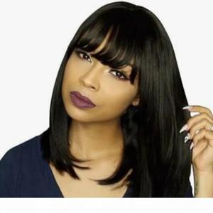 شعر الإنسان الباروكات بوب لمة شعر الإنسان للنساء السود البرازيلي مستقيم الشعر البشري الباروكات dorisy غير ريمي 10-16 بوصة