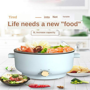 1600W 5.0L multifunctional electric cooker noodle soup rice egg barbecue soup pot cooking pot steamer 220V