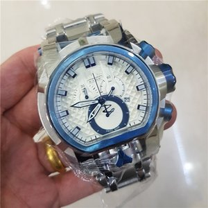 TOP Quality All Pointer Work Reserve Men 52mm Quartz Dual Movement Iridescent Bracelet Watch christmas gift
