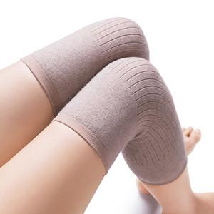 1 par cashmere quente joelheira lã joelho almofada homens e mulheres ciclismo alongamento prevenir artrite joelheira no inverno para velho