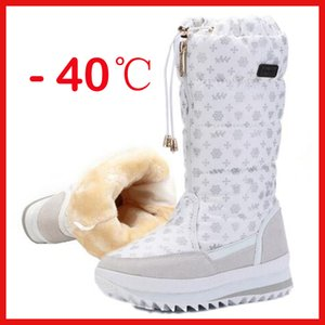 Top quality Women winter shoes platform thick plush warm waterproof high snow boots botas mujer size 35-42