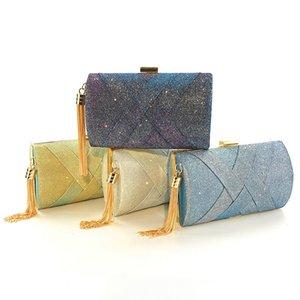 Luxurys Designer Handbag Party Clutch Flap Evening Bag Sparkly Paillette Purse Detachable Shoulder Chain for Party Wedding Cocktail
