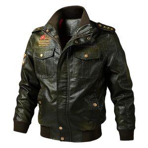 dos homens Jaqueta de couro Moda Casual Joker Jacket solto simples Monochrome Levante Leather Jacket Collar Men