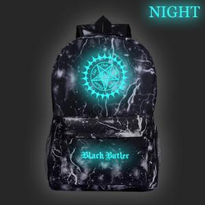 아름 다운 검은 집사 빛나는 배낭 kuroshitsuji 여행 Shouleer 배낭 패션 남자 여자 소년 소녀 학교 노트북 가방 C0121