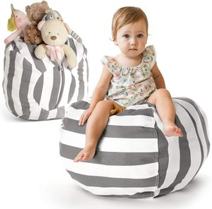 Stuffed Animal Storage Bean Bag Chair Cover Kids Stuffable Zipper Beanbag for Organizing Children Plush Toys