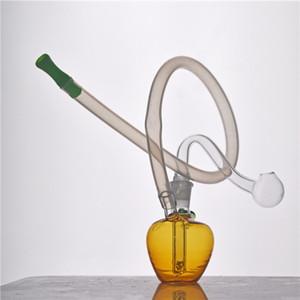 New Glass Oil Burner Bong mini Oil Rig Beaker bong Cheap glass water bubbler recycler bong for Smoking with 10mm glass oil burner pipe
