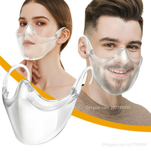 Designer Maschera Maschera Viso durevole Combine plastica riutilizzabile libera della maschera di protezione Shield mascherine trasparenti GH789