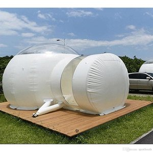 Outdoor Camping Clear Inflatable Air Dome Igloo Lawn Transparent Bubble Tent 3m Dome Inflatable Bubble Tent with Single Tunnel