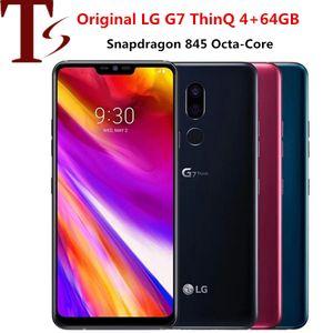 """جديد وصول مفتوح الأصل LG G7 شيء becouse لاني G710N G710VM G710PM 4 + 64GB LTE الهاتف المحمول أنف العجل 845 6.1 """"16MP تجديد الهاتف المحمول"""