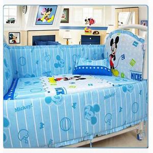 Kingtoy Newborn Baby Bedding Set Cartoon Infant Bed Sheet 100% Cotton Kids Bedclothes Include Pillow Bumpers Mattress GKWw#