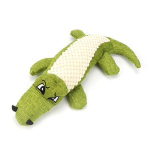 Phonation Plush Dog Toys Simulation Crocodile Linen Splicing Pets Interactive Toy Animal Chew Supplies 29cm Red Green Blue Hot Sale 7 5bh G2
