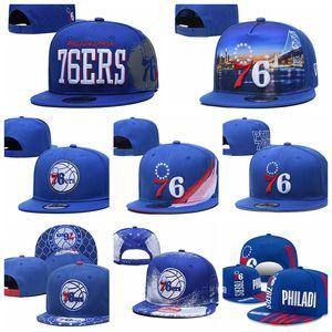 Filadelfia76ersUomini Sport Caps UOMINI DONNE GIOVANI PHI 2020 Tip-Off Serie 9FIFTY regolabile Snapback cappello di pallacanestro blu