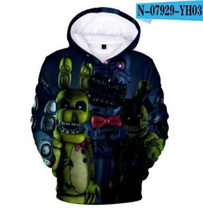 Personality Five Nights at Freddy hoodies sweatshirts Boys Girls 3D hooded Creative FNAF Autumn Winter Child hoodie Pullovers
