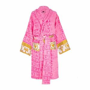 albornoces diseñador de la marca duermen bata camisones de algodón unisex traje de noche de alta calidad de baño de lujo bata classcial estrecha sala transpirable 5516