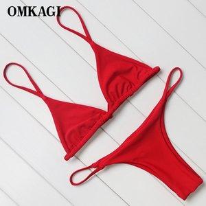OMKAGI Brand Swimsuit Swimwear Women Biquini Sexy Push Up Micro Bikini Set Swimming Bathing Suit Beachwear Brazilian Bikini