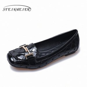 Women Shoes Comfortable Soft Bottom Pregnant Women Flat Flat Shoes Square Buckle Oxford Casual 2020 Spring Black Beige Red Loafers For wpcl#