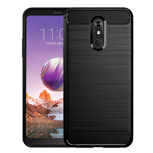 Carbon Fiber Texture Shockproof Cover Protective Slim Fit Soft TPU Silicone Case for LG Stylo 5 LG Stylo 5 Plus Stylo 5V  Stylo 5X