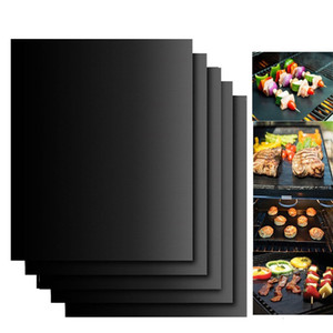 40*33cm BBQ Grill Mat Durable Non-Stick Barbecue Mat Reusable Easy Clean Cooking Sheets Microwave Oven Outdoor BBQ Cooking Tool DBC BH4388