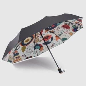 Мода женщины Зонтик дождь Саншайн ветрозащитных Зонтики 3 Складная мини Зонтик Lady портативный Девушка Umbrella Подарочный yxldvh garden_light