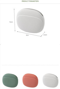 Silicone portable wired earphone storage box mini portable creative small portable mobile phone charging data cable finishing bag