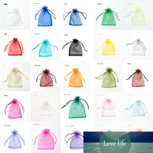 100pcs 22 colors 11X16 15X20 17X23 20x30cm organza bags wedding decoration party gift bag drawable jewelry packaging pouches J15