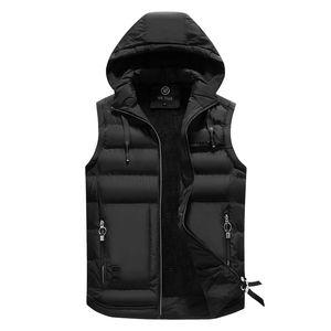 Inverno 2020 de algodão acolchoado Vest Men Bingchenxu marca Mens ao ar livre dos homens Aqueça com capuz colete Casual Masculino Casacos Coletes