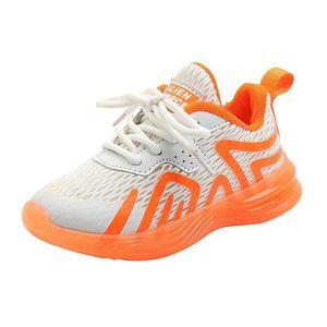 CNFSNJ 2020 YENI Toddler Erkek Bebek Kız Yıldızı Noctilucent Sneaker Çocuk Spor Nefes Ayakkabı Çocuk Şeker Nedensel Eğitim 26-361