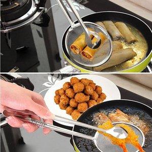1 шт. Multi Function Filter ложка с клиптом фильтр из нержавеющей стали пищевой фильтр портативный кухонный барбекю приготовление барбекю