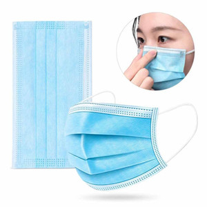 DHL Free Shipping Disposable Masks 50pcs Protection and Personal Health Mask 3-Layer Facial Cover with Earloop Mouth Face Sanitary Masks
