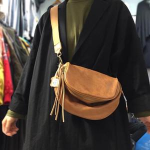 NIUBOA Damen Soft-echtes Leder-Schulter-Beutel Spezielle kühlen Design Weibliche beiläufige Kurier-Beutel Feminina Luxus Trend Bolsos