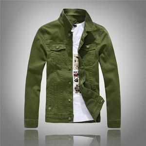 Nova marca de 100 algodão lapela jaqueta jeans moda casual azul jaqueta jeans slim tamanho grande M-4XL retro dos homens dos homens