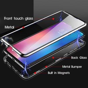 Absorción magnética de lujo Vidrio templado de doble cara para Xiaomi MI 9 MI9 SE METAL TELÉFONO CUBIERTA DE METAL XIAOMI9 MI9SE H SQCEXE