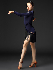 Latin dance practice clothes female adult professional performance clothing new Latin dance skirt dress set-DL308