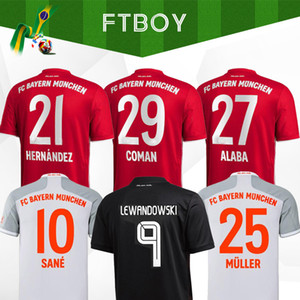 Thailandia SANE COUTINHO Sané 20 21 2021 Bayern Munich PERISIC Maglia da calcio 2020 2021 LEWANDOWSKI maglia HERNANDEZ COMAN DAVIES Maglia da calcio MUNCHEN