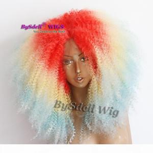 مثير كبير الأفرو غريب مجعد الشعر شعر مستعار الأزياء الأفريقية الأمريكية السود النساء كبيرة تصفيفة الشعر الباروكة مقاومة للحرارة الرباط الجبهة الباروكات