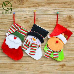 Christmas Pendant Santa Claus Socks Gift Bag Candy Bag Christmas Tree Pendant Socks Christmas Pendant