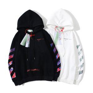 2020 otoño y el invierno gradiente de arco iris nuevos hombres de impresión de terciopelo con capucha y la calle del todo-fósforo de las mujeres suéter R1WI