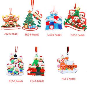 عيد الميلاد زخرفة DIY تحيات الحجر 2020 عيد الميلاد عيد ميلاد الحزب ينأى جائحة الاجتماعية شجرة عيد الميلاد اكسسوارات قلادة