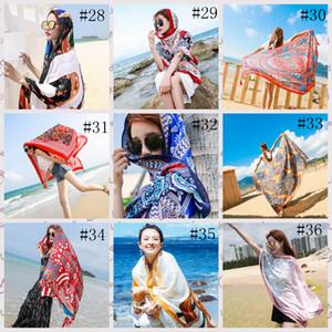 36style Ethnische Schal-Frauen-Schal-Baumwolle Leinen Ethnische Handtuch Meer Ferien Sunscreen Seidenschal Bohemian Strandtuch 180 * 100cm GGA3758-2